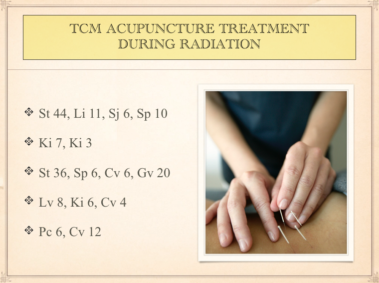 Acupuncture for radiation