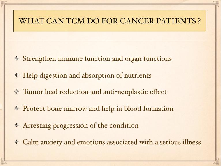 What TCM can do for Cancer